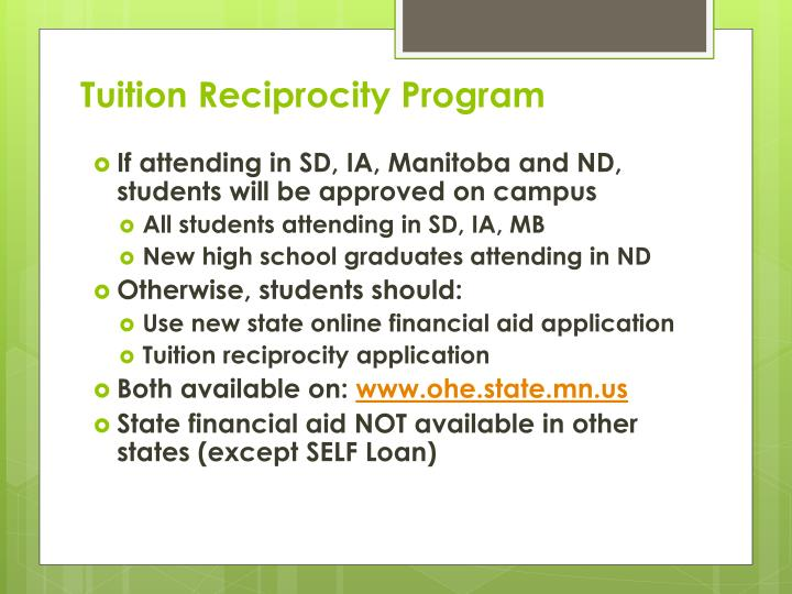 Tuition Reciprocity Program