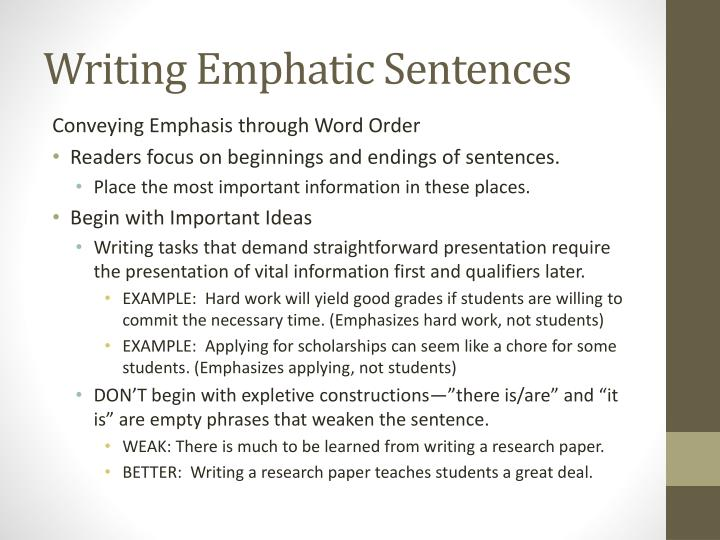 emphatic writing The cask of amontillado essays emphatic order in essay writing sociology papers online finance homework help forum.