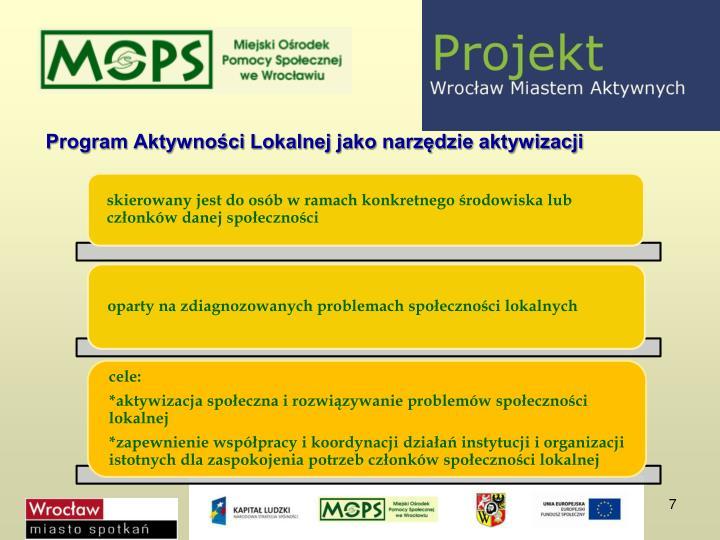 Program Aktywności Lokalnej jako narzędzie aktywizacji
