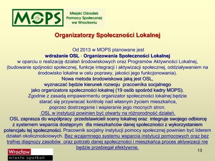 Organizatorzy Społeczności Lokalnej