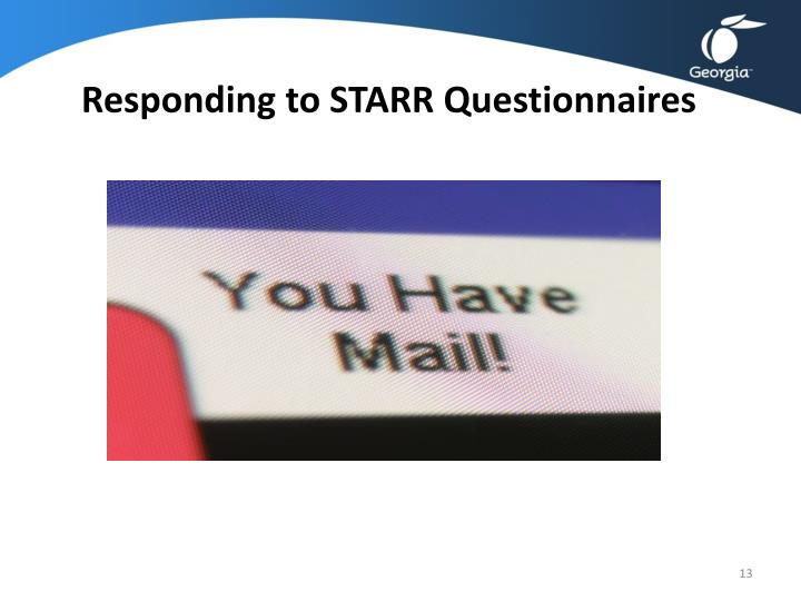 Responding to STARR Questionnaires