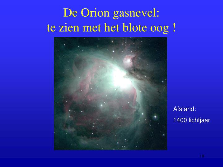 De Orion gasnevel: