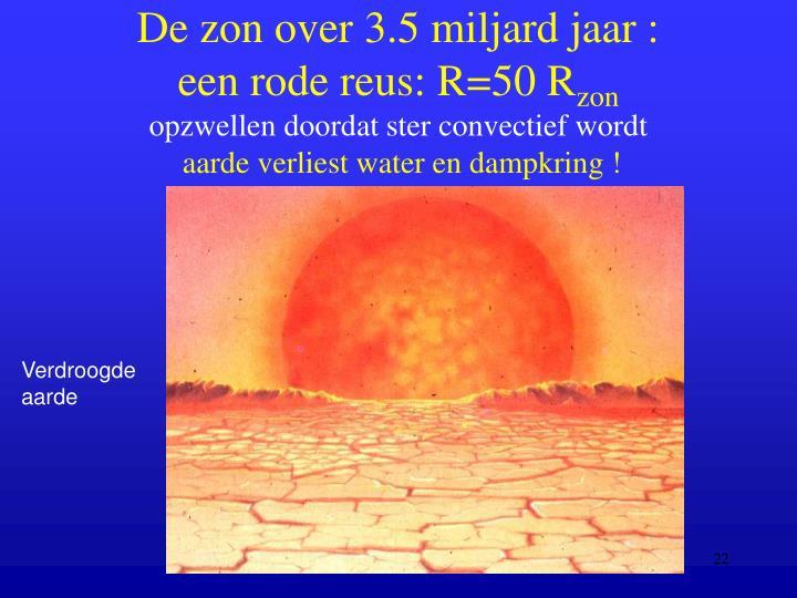 De zon over 3.5 miljard jaar :