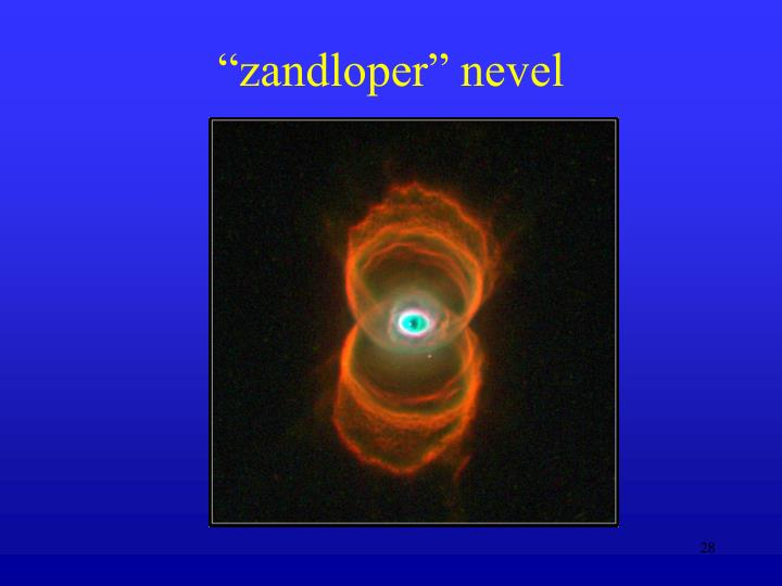 """zandloper"" nevel"