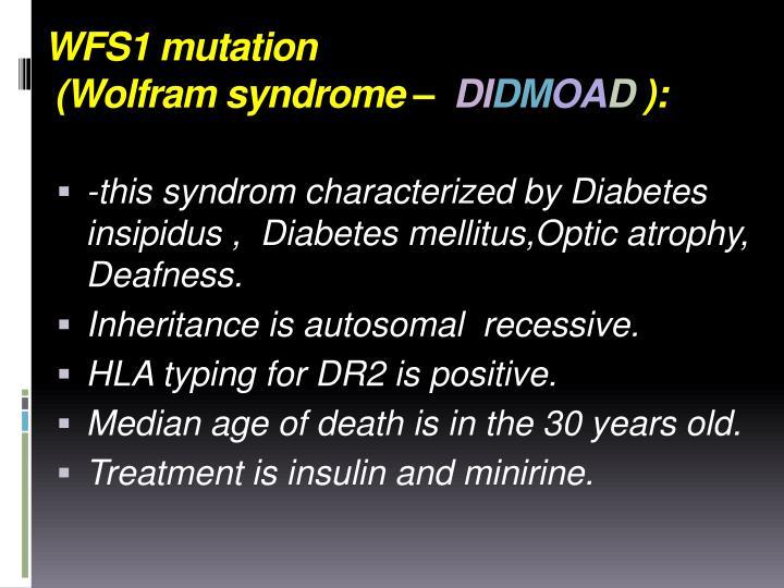 WFS1 mutation
