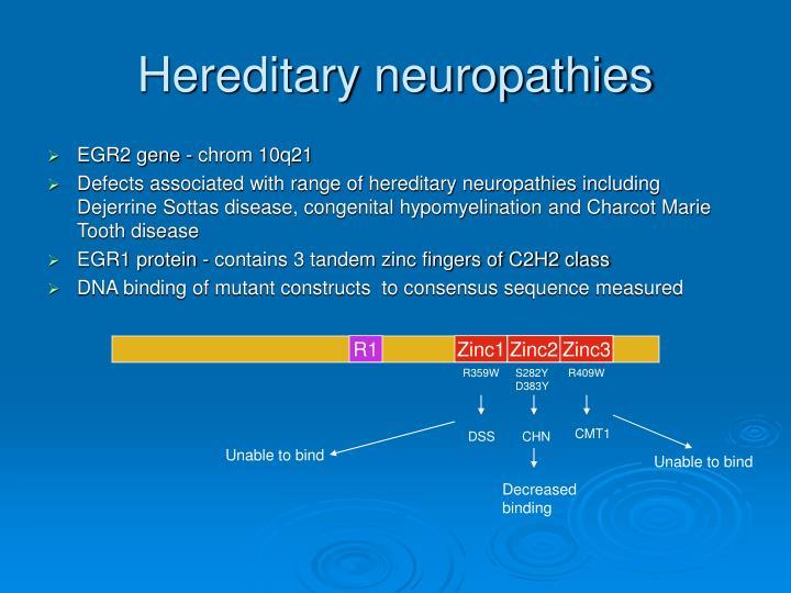 Hereditary neuropathies