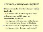common current assumptions