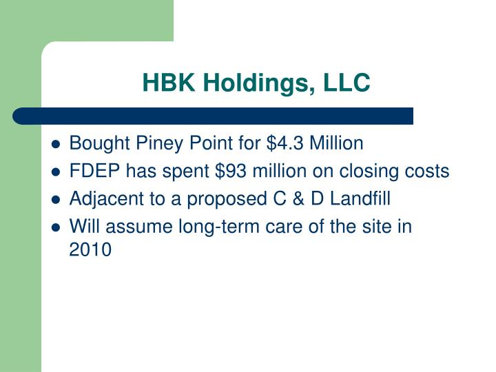 HBK Holdings, LLC