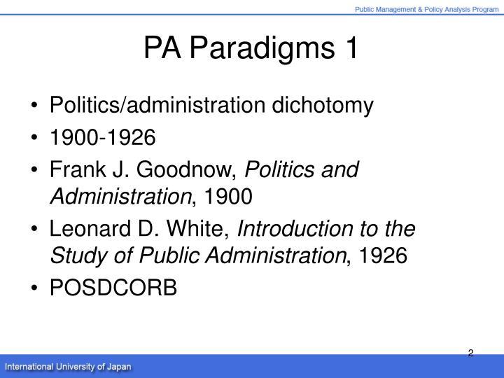 PA Paradigms 1