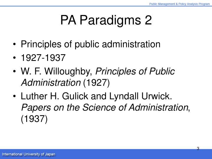 PA Paradigms 2