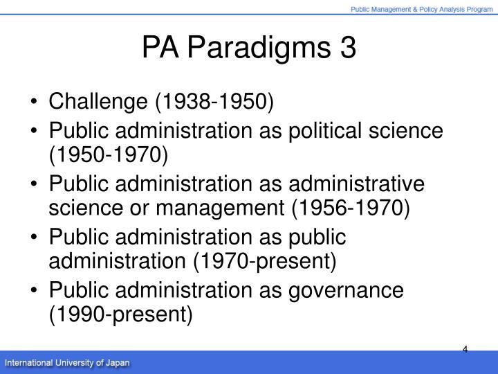 PA Paradigms 3