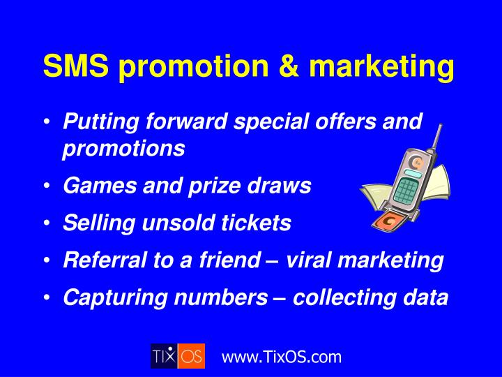SMS promotion & marketing
