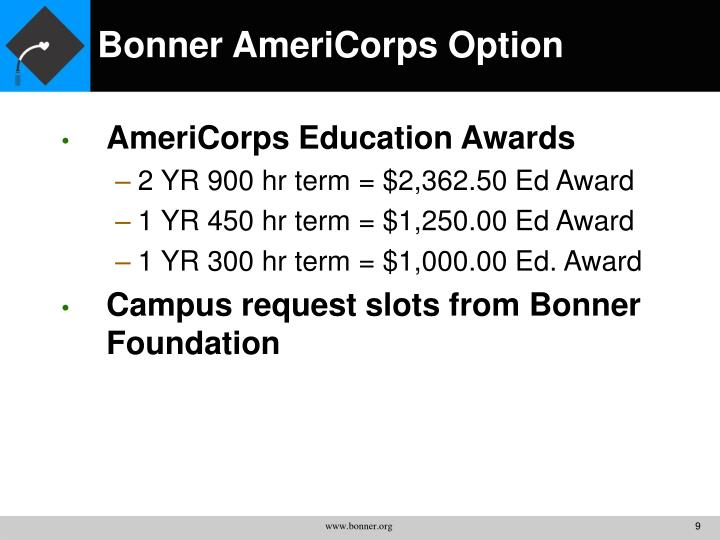 Bonner AmeriCorps Option