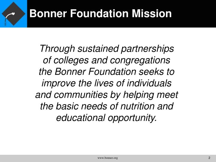 Bonner foundation mission