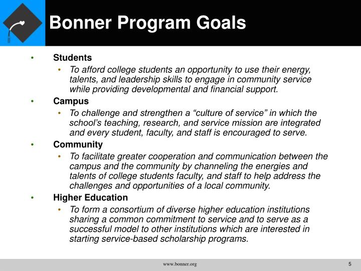 Bonner Program Goals