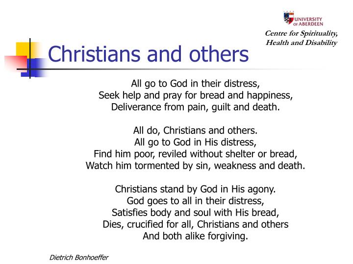 Christians and others
