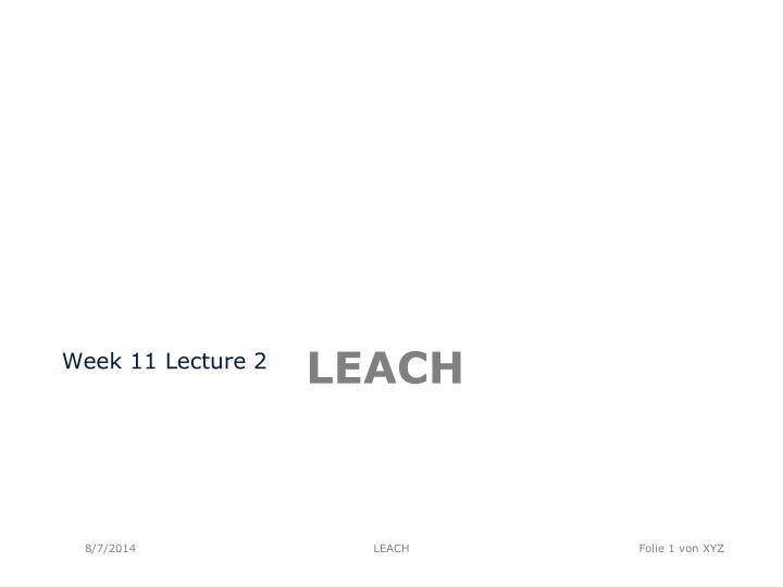 Week 11 Lecture 2