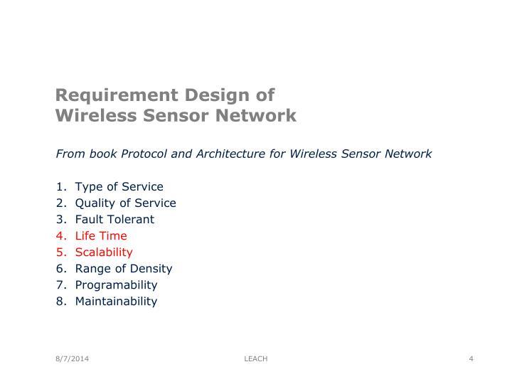 Requirement Design of