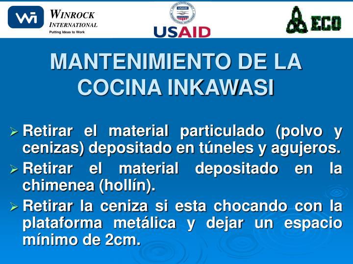 MANTENIMIENTO DE LA COCINA INKAWASI