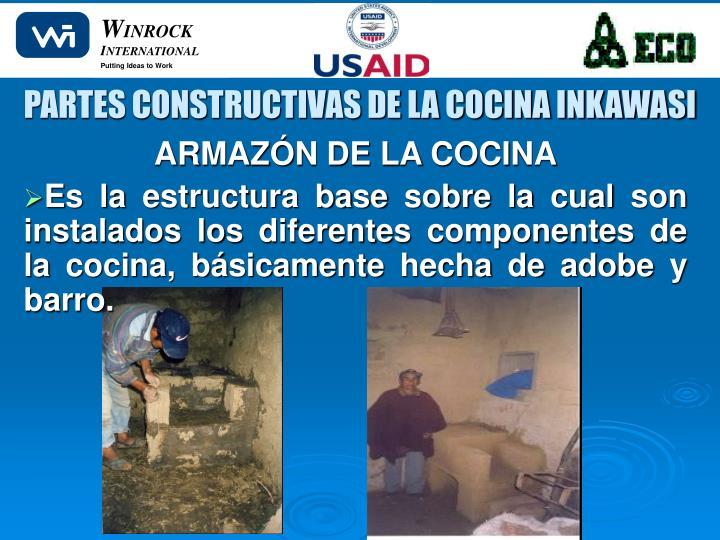 PARTES CONSTRUCTIVAS DE LA COCINA INKAWASI
