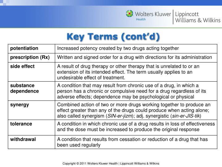 Key Terms (cont'd)