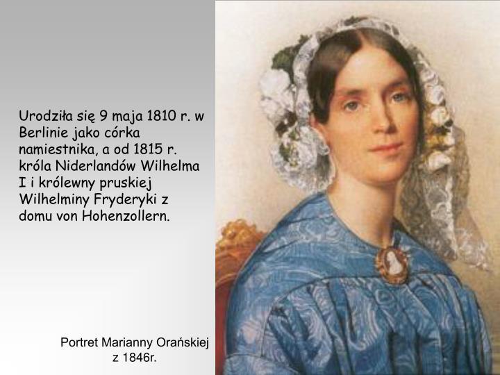 Portret Marianny Orańskiej