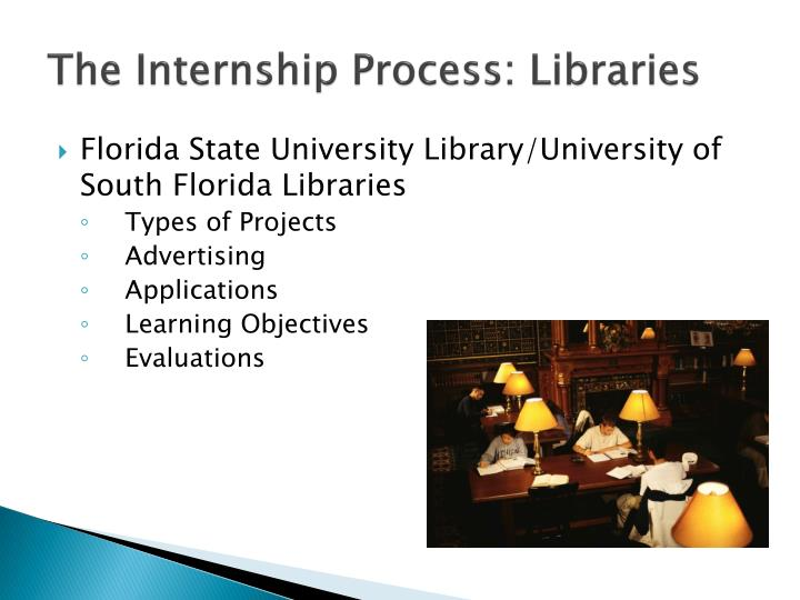 The Internship Process: Libraries
