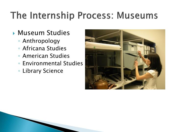 The Internship Process: Museums