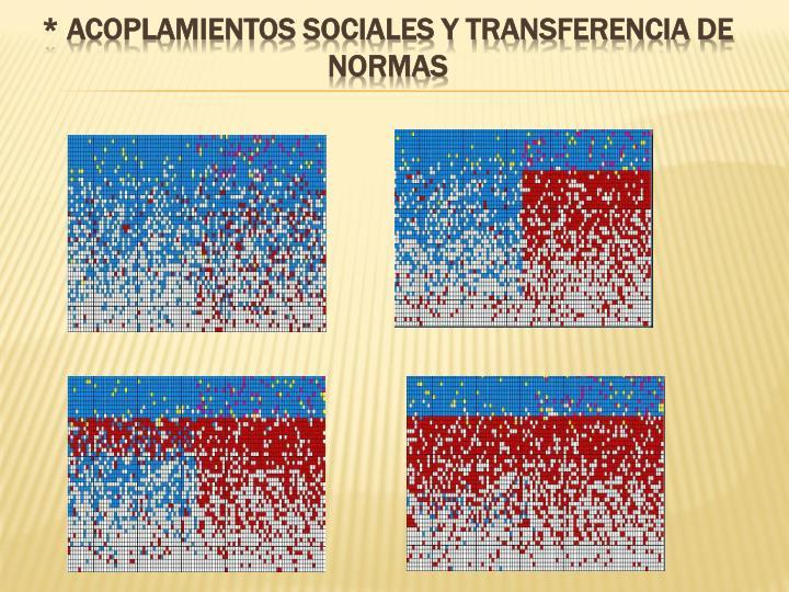 * Acoplamientos sociales y transferencia de normas