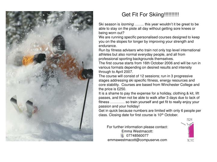 Get Fit For Skiing!!!!!!!!!!