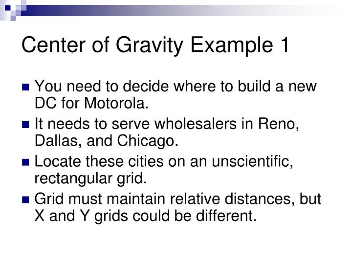 Center of Gravity Example 1