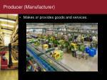 producer manufacturer