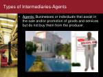 types of intermediaries agents