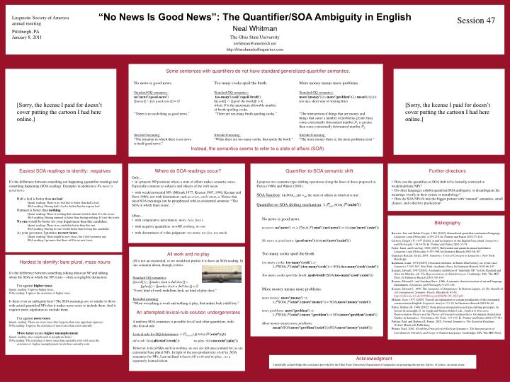 """No News Is Good News"": The Quantifier/SOA Ambiguity in English"