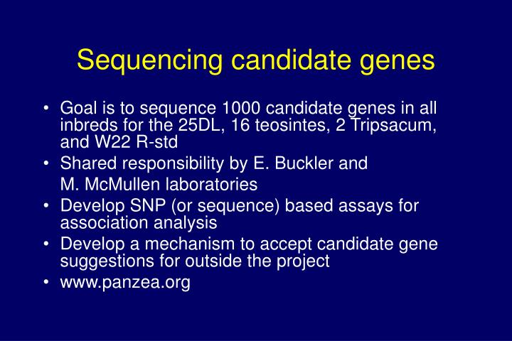 Sequencing candidate genes