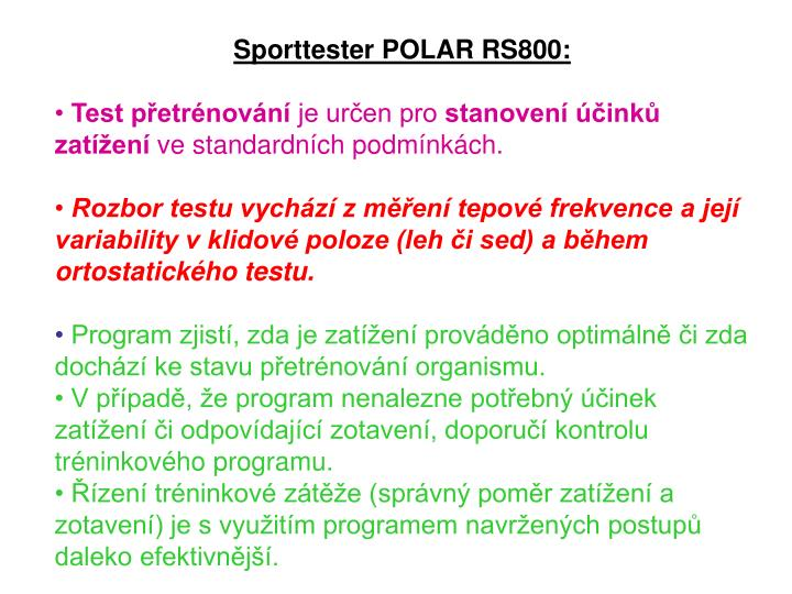 Sporttester POLAR RS800: