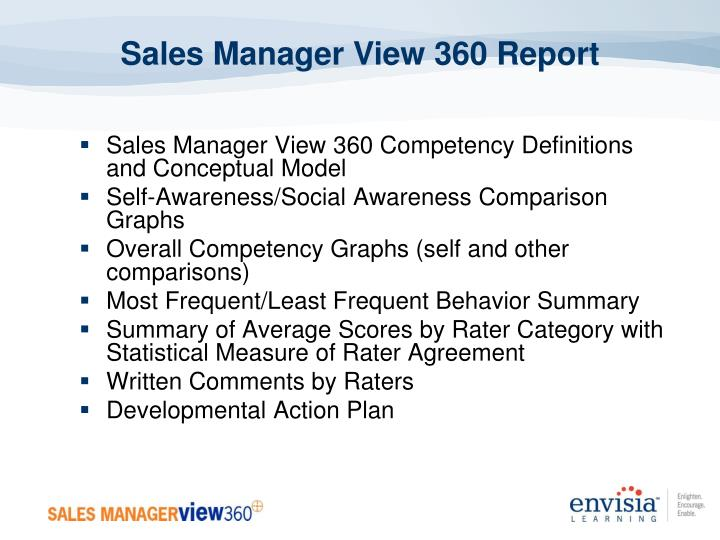 Sales Manager View 360 Report