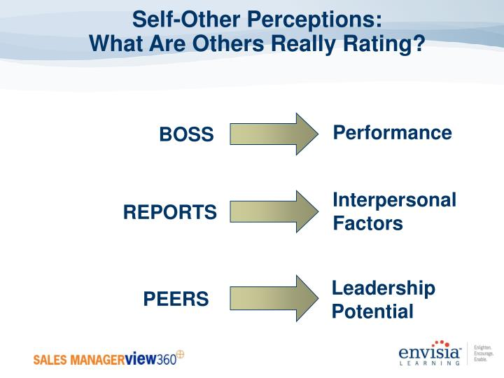 Self-Other Perceptions:
