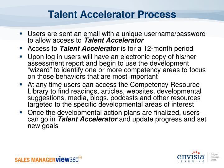 Talent Accelerator Process