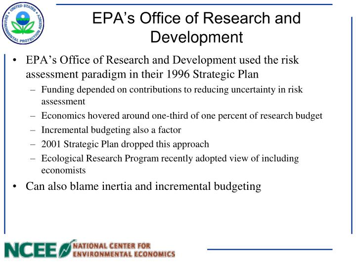 EPA's Office of Research and Development