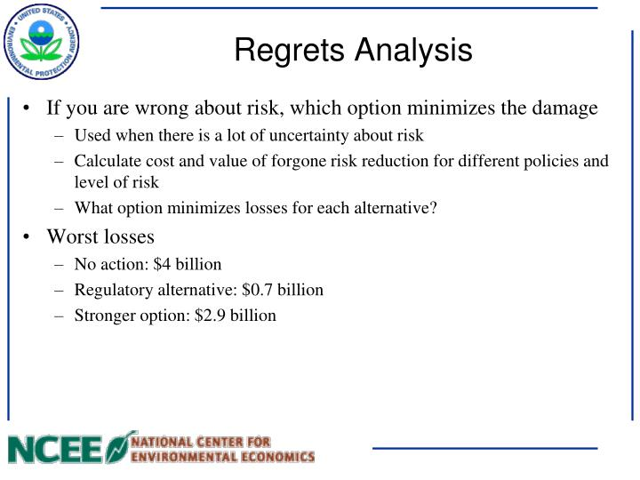 Regrets Analysis