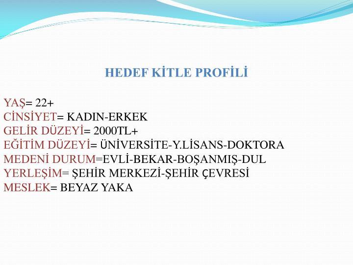 HEDEF KİTLE PROFİLİ