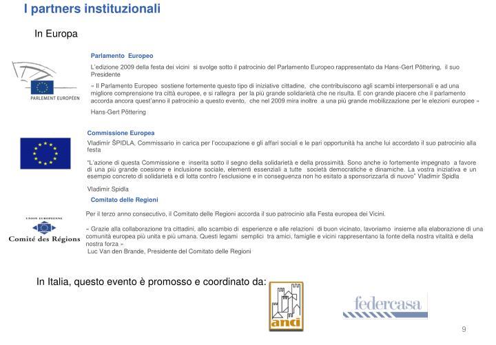 I partners instituzionali