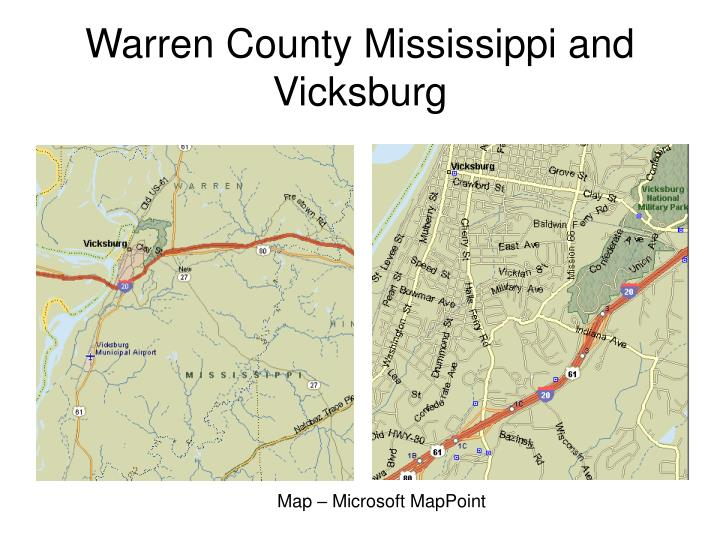 Warren County Mississippi and Vicksburg