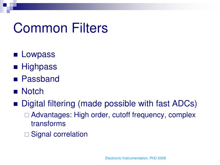 Common Filters