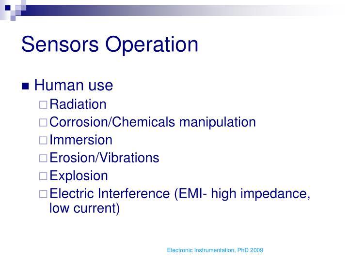 Sensors Operation