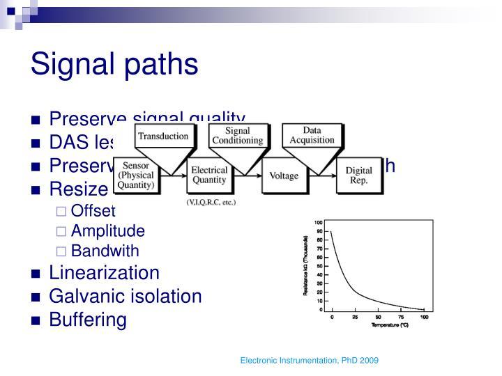 Signal paths