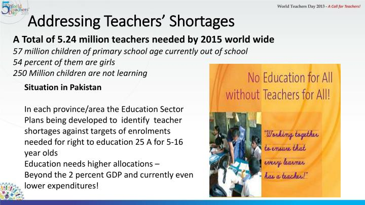 Addressing Teachers' Shortages