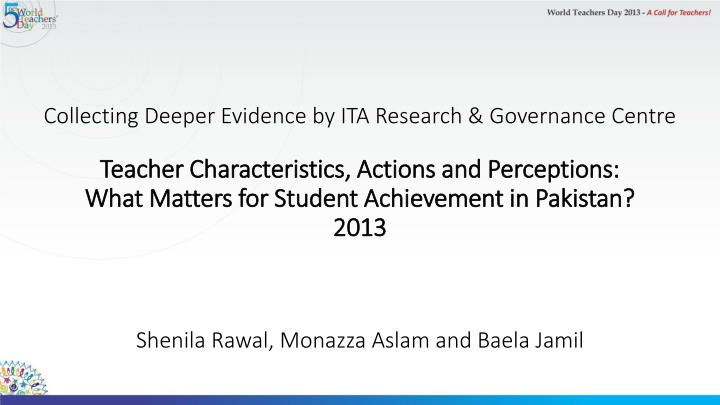 Collecting Deeper Evidence by ITA Research & Governance Centre