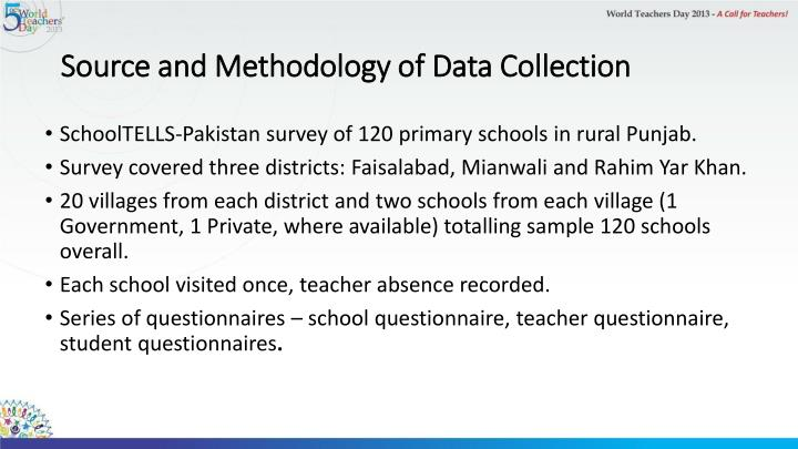 Source and Methodology of Data Collection